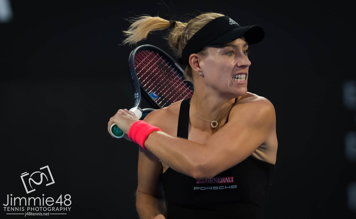 Angelique Kerber of Germany in action during the second round of the 2019 Sydney International WTA Premier tennis tournament