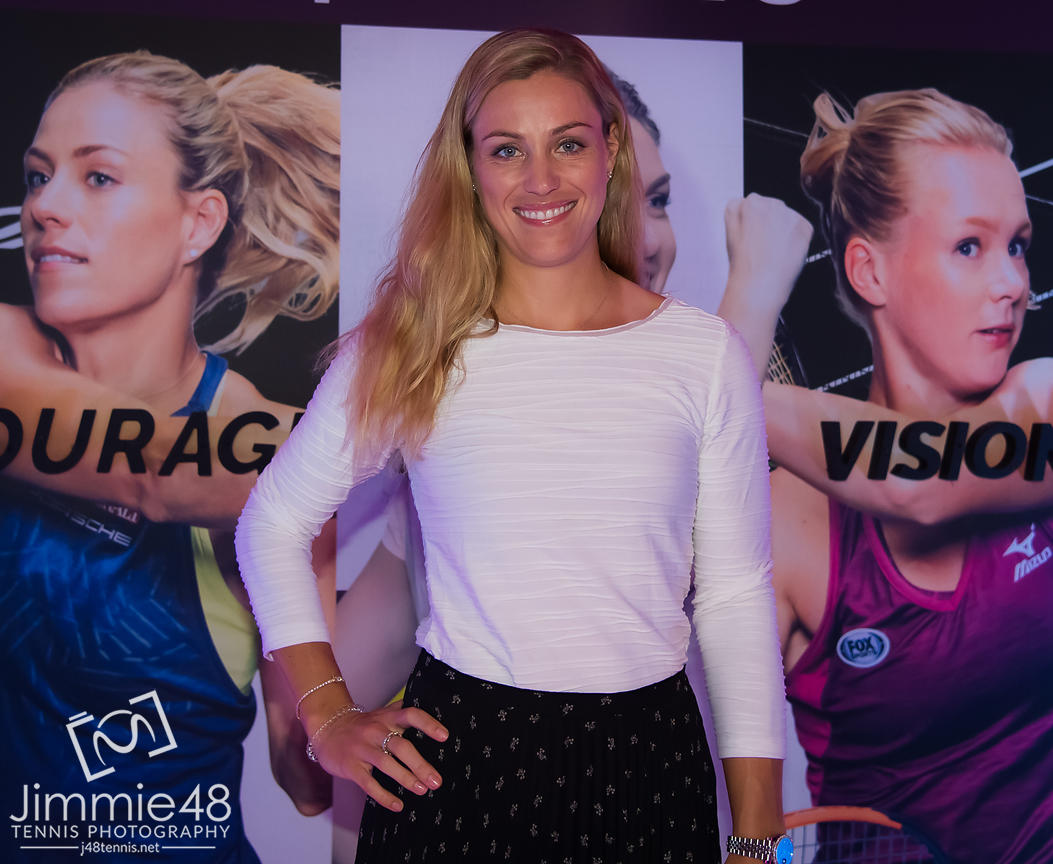 Angelique Kerber of Germany at the Players Party of the 2019 Qatar Total Open WTA Premier tennis tournament