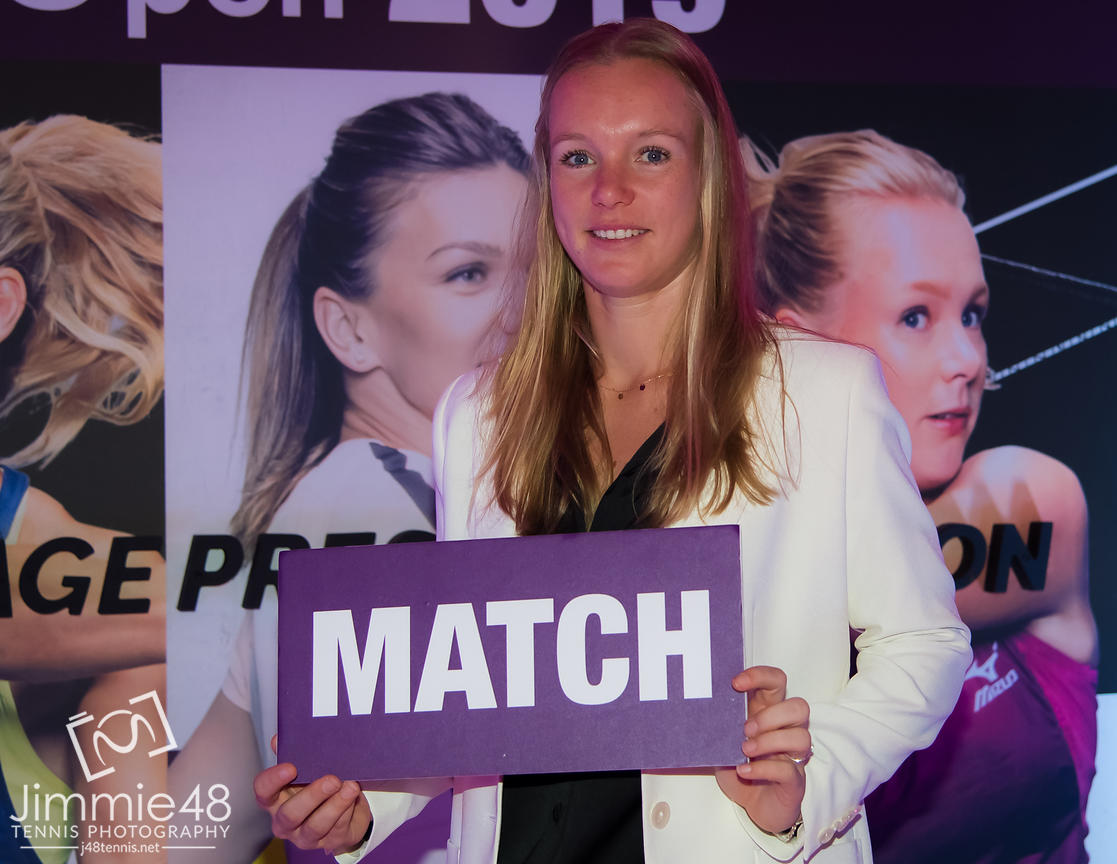 Kiki Bertens of the Netherlands at the Players Party of the 2019 Qatar Total Open WTA Premier tennis tournament