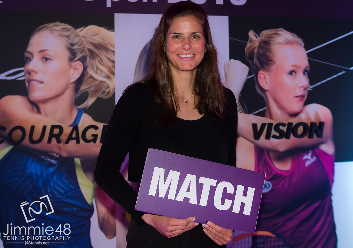 Julia Goerges of Germany at the Players Party of the 2019 Qatar Total Open WTA Premier tennis tournament