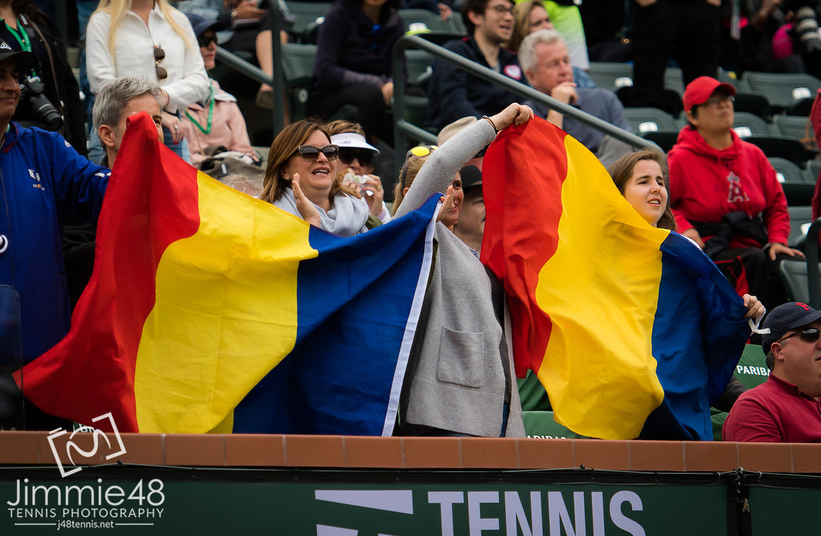 Simona Halep Fans at the 2019 BNP Paribas Open WTA Premier Mandatory tennis tournament