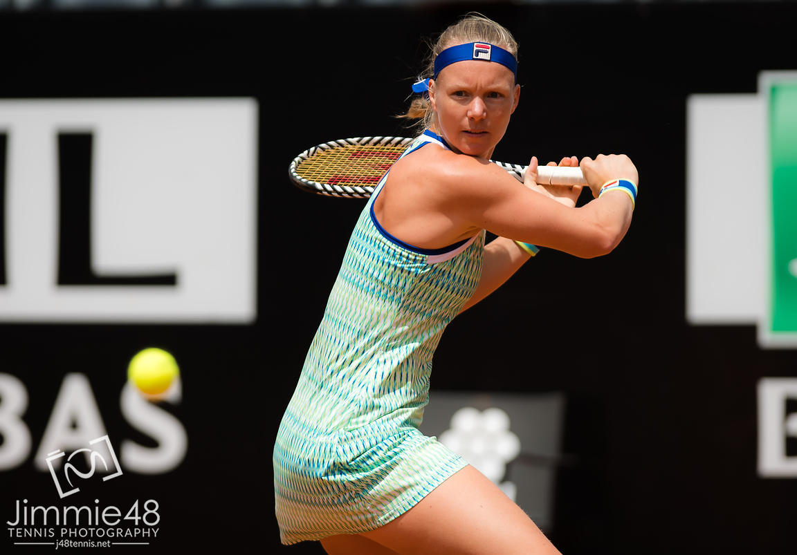Kiki Bertens of the Netherlands in action during her semi-final at the 2019 Internazionali BNL d'Italia WTA Premier 5 tennis tournament