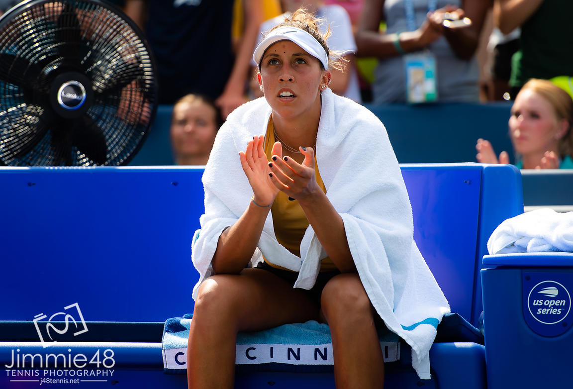 Madison Keys of the United States during the trophy ceremony after the final of the 2019 Western & Southern Open WTA Premier Tennis 5 Tournament