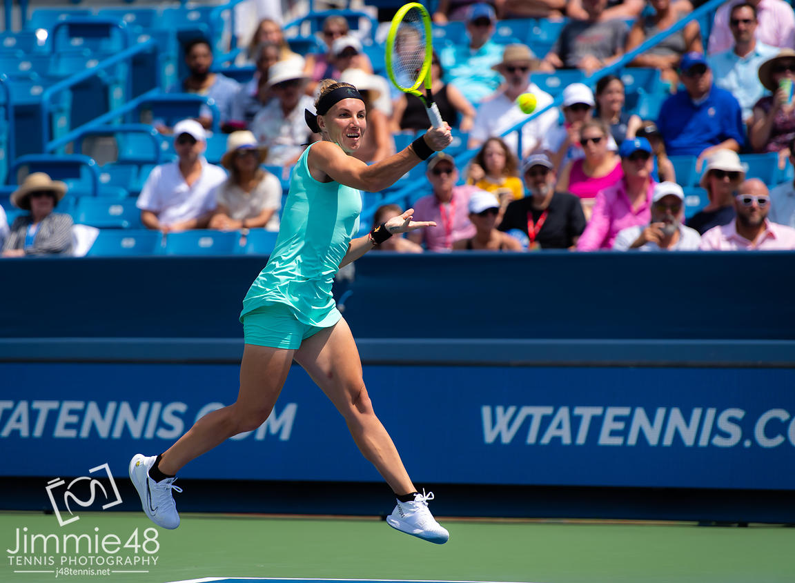 Svetlana Kuznetsova of Russia in action during the final of the 2019 Western & Southern Open WTA Premier Tennis 5 Tournament