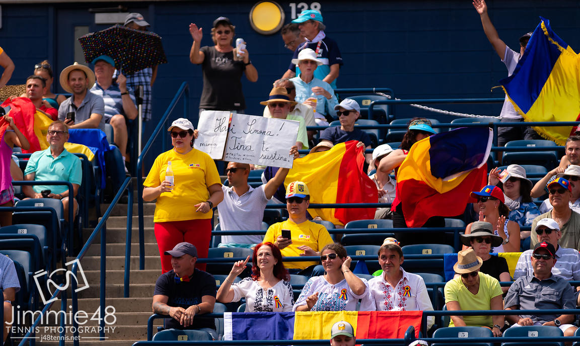 Simona Halep Fans in action during her second round match at the 2019 Rogers Cup WTA Premier Tennis 5 Tournament