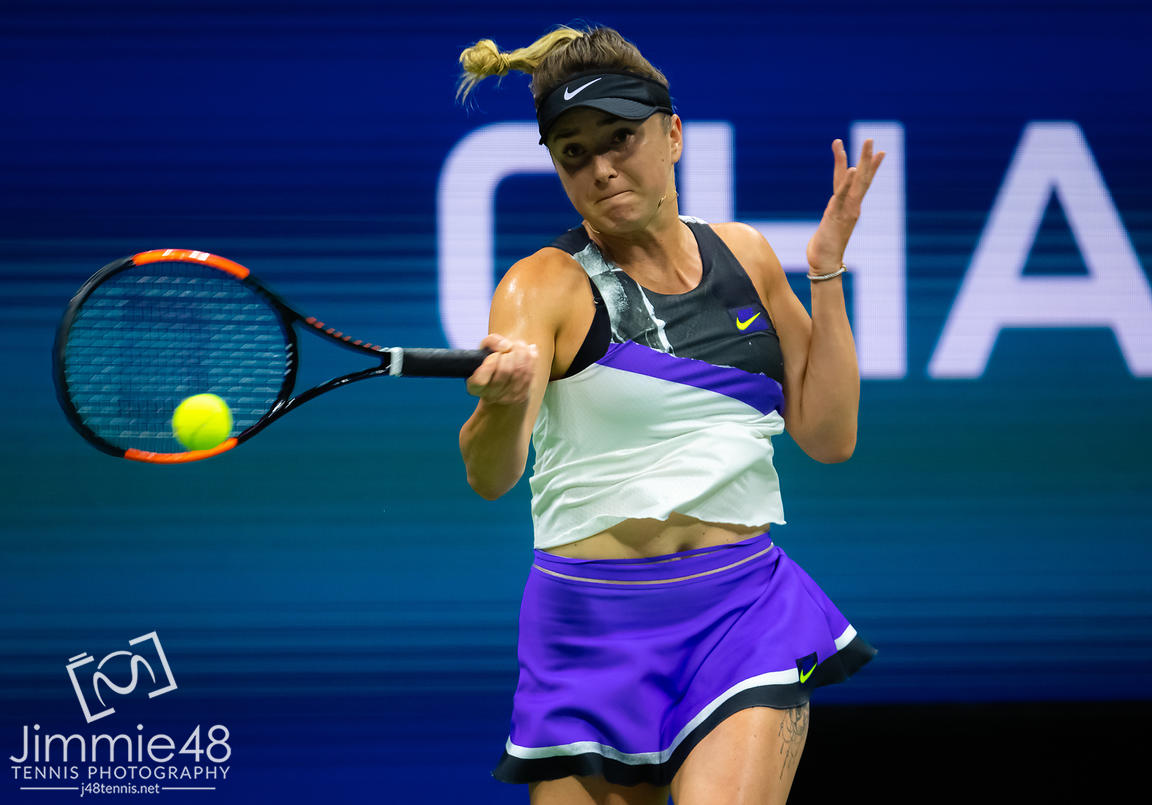 Elina Svitolina of the Ukraine in action during her semi-final match at the 2019 US Open Grand Slam tennis tournament