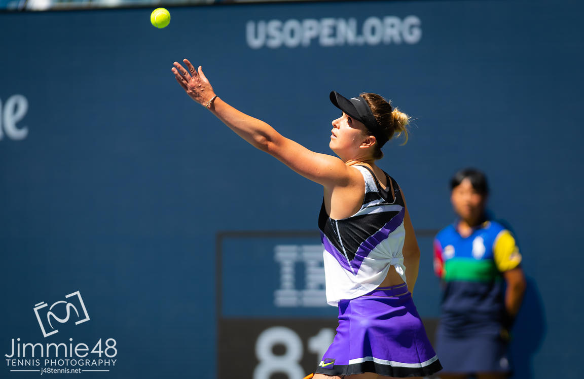 Elina Svitolina of the Ukraine in action during her quarter-final match at the 2019 US Open Grand Slam tennis tournament