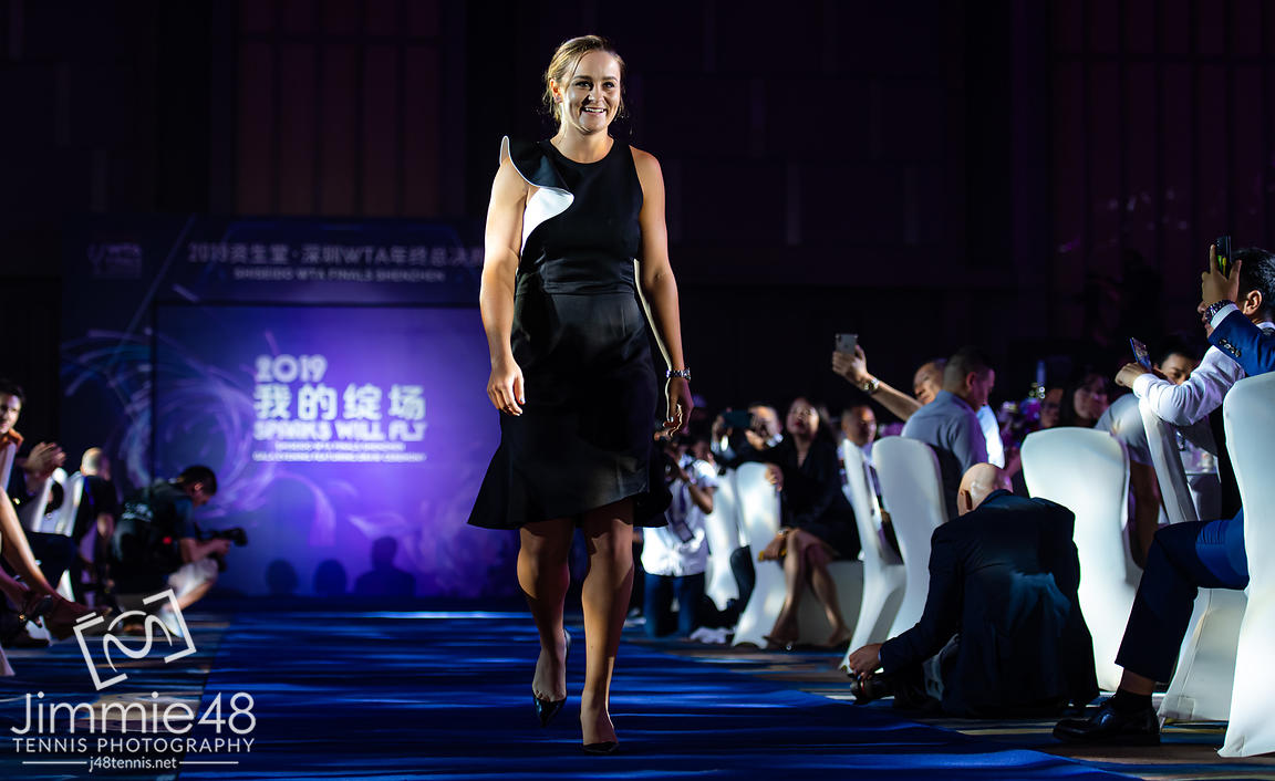 Ashleigh Barty of Australia during the draw gala of the 2019 WTA Finals tennis tournament