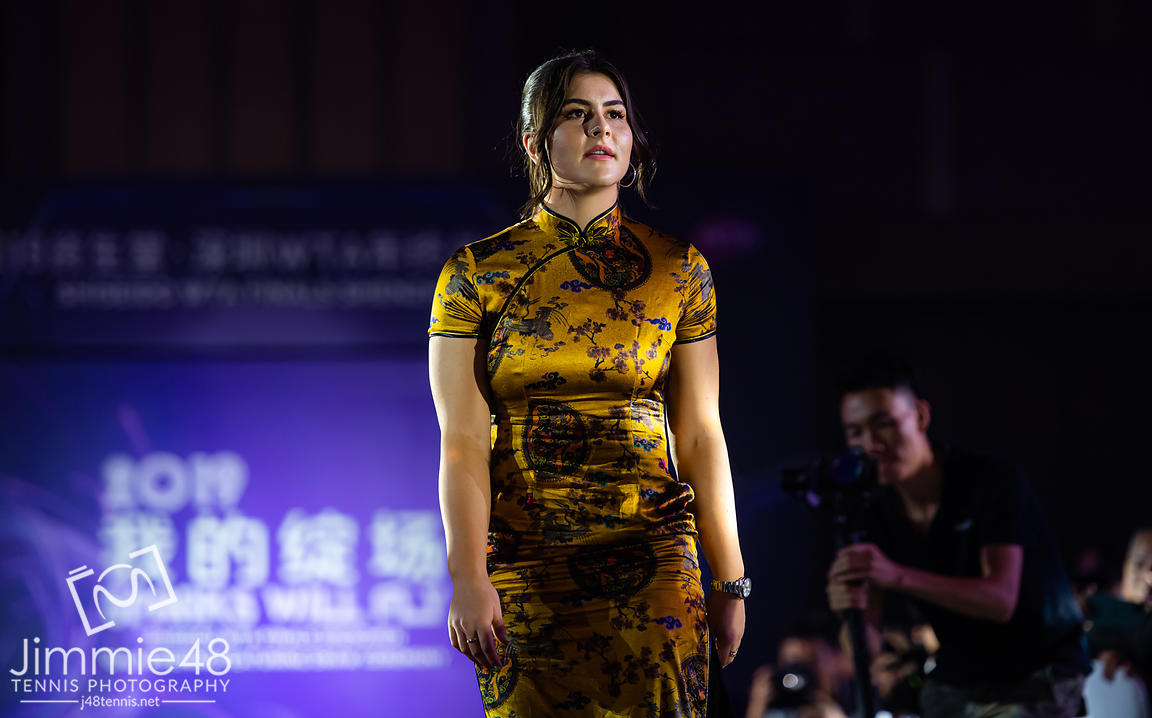 Bianca Andreescu of Canada during the draw gala of the 2019 WTA Finals tennis tournament