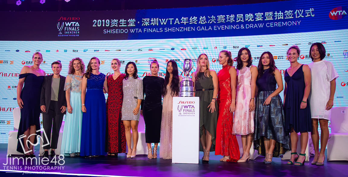 Doubles Class of 2019 during the draw gala of the 2019 WTA Finals tennis tournament