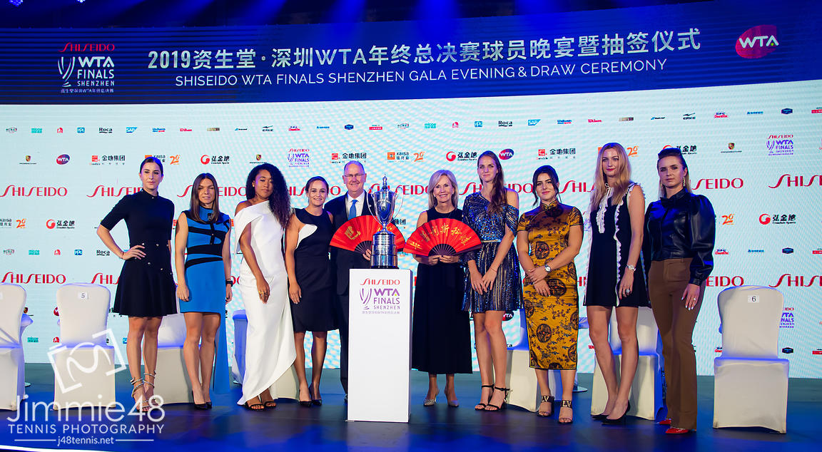 Class of 2019 during the draw gala of the 2019 WTA Finals tennis tournament