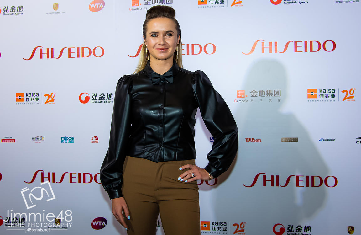 Elina Svitolina of the Ukraine on the red carpet before the draw gala of the 2019 WTA Finals tennis tournament