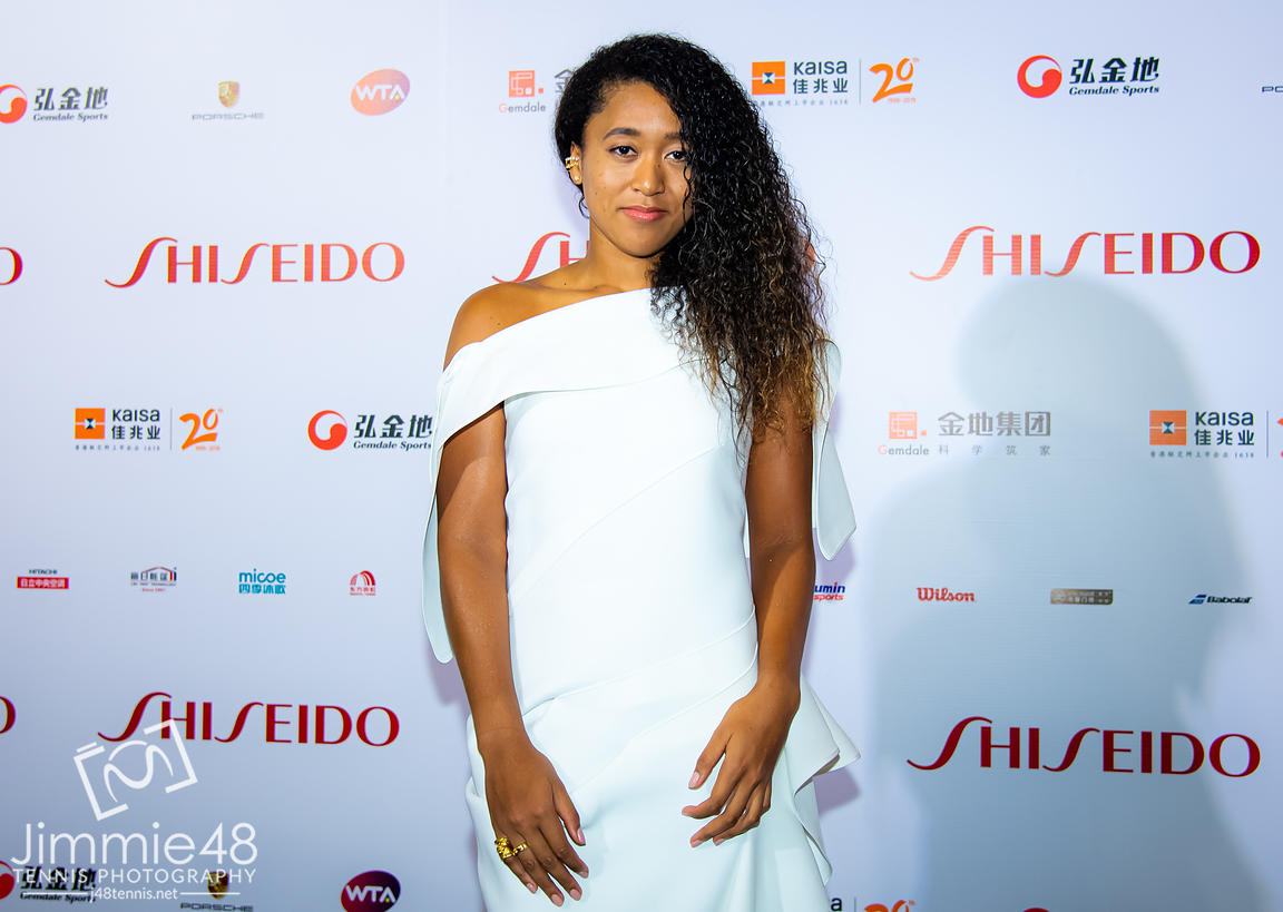 Naomi Osaka of Japan on the red carpet before the draw gala of the 2019 WTA Finals tennis tournament