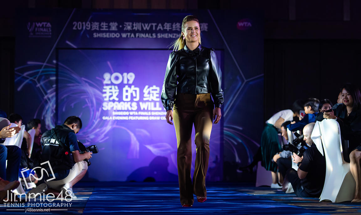 Elina Svitolina of the Ukraine during the draw gala of the 2019 WTA Finals tennis tournament