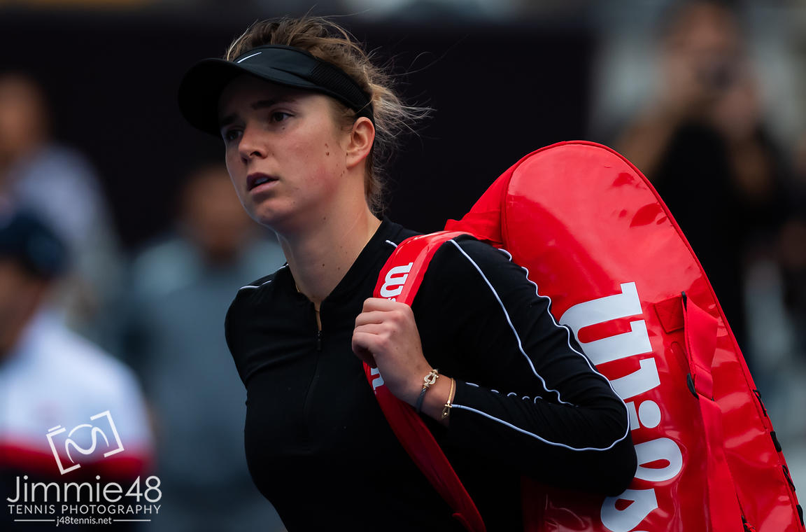 Elina Svitolina of the Ukraine in action during her quarter-final match at the 2019 China Open Premier Mandatory tennis tournament