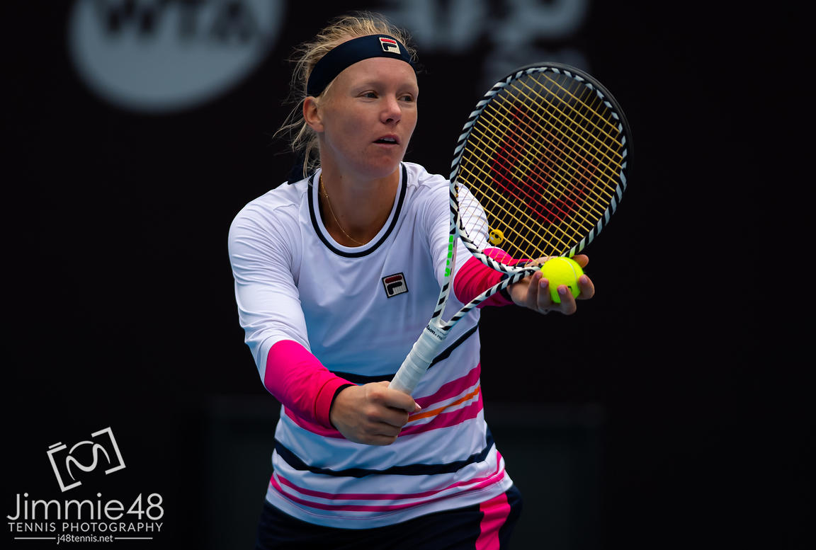 Kiki Bertens of the Netherlands in action during her quarter-final match at the 2019 China Open Premier Mandatory tennis tournament