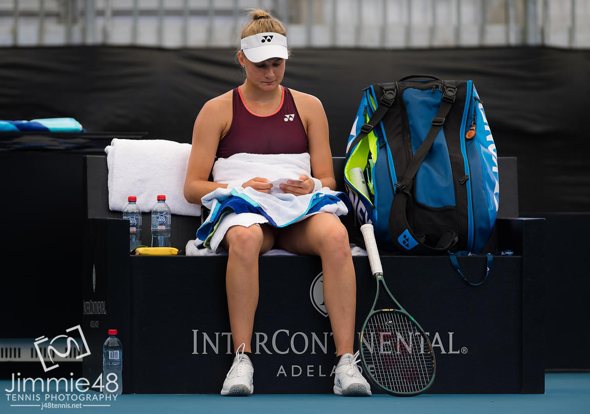 Angelique Kerber of Germany in action during her second round match at the 2020 Adelaide International WTA Premier tennis tournament