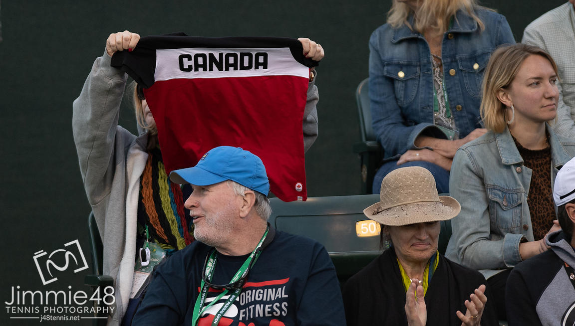 Canadian Fans at the 2019 BNP Paribas Open WTA Premier Mandatory tennis tournament