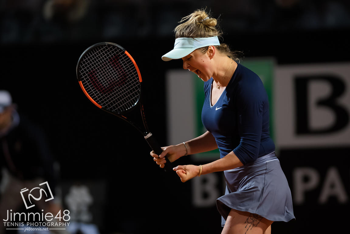 Elina Svitolina of the Ukraine in action during her second-round match at the 2019 Internazionali BNL d'Italia WTA Premier 5 tennis tournament