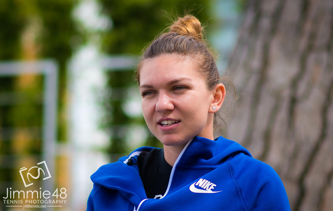 Simona Halep of Romania during a video shoot at the 2019 Internazionali BNL d'Italia WTA Premier 5 tennis tournament