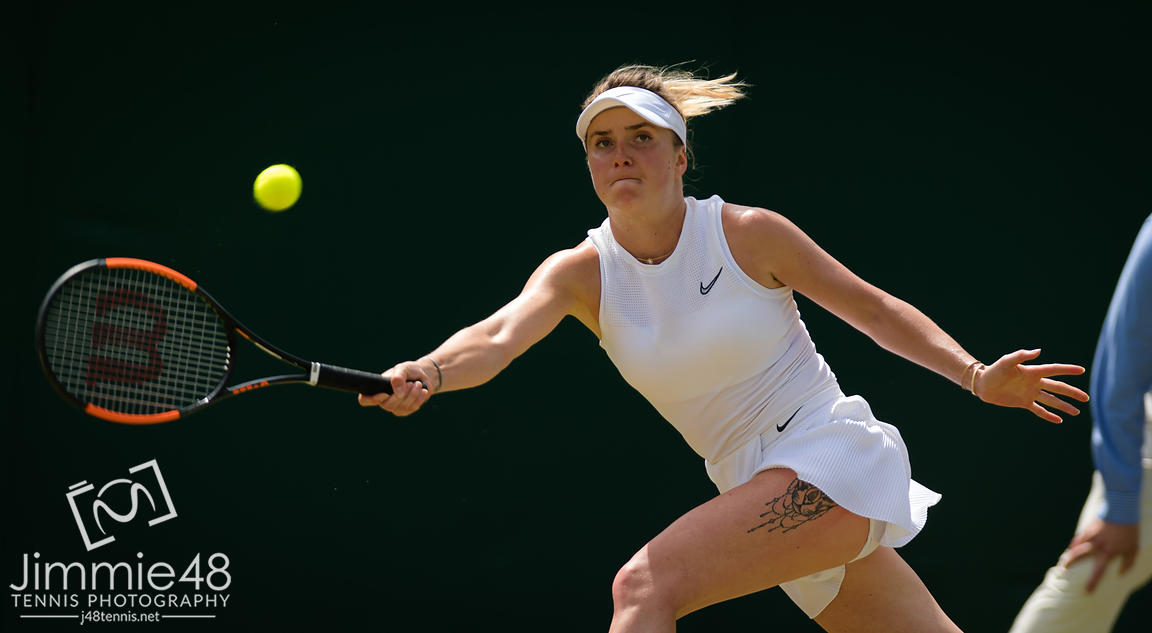 Elina Svitolina of the Ukraine in action during her third-round match at the 2019 Wimbledon Championships Grand Slam Tennis Tournament