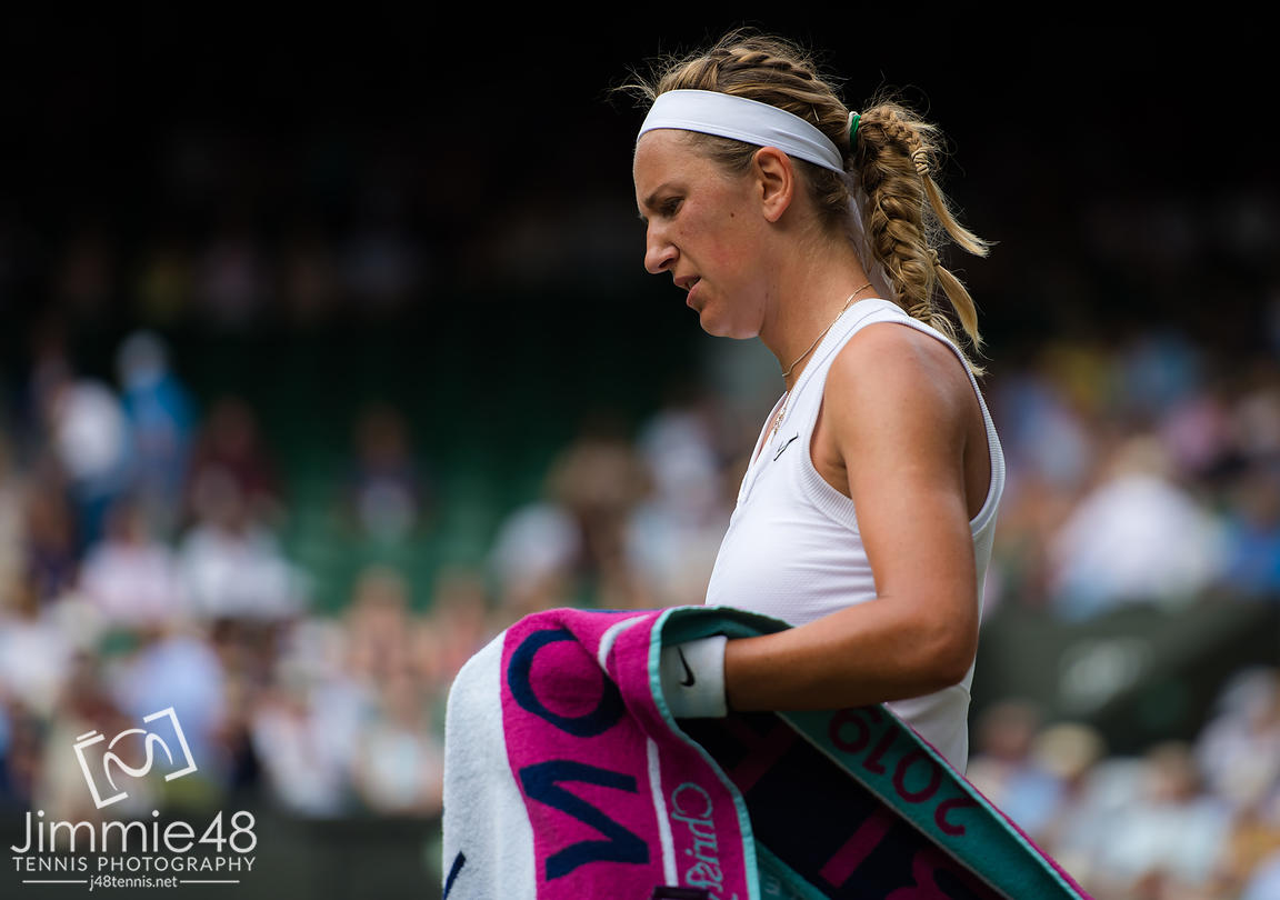 Victoria Azarenka of Belarus in action during her third-round match at the 2019 Wimbledon Championships Grand Slam Tennis Tournament