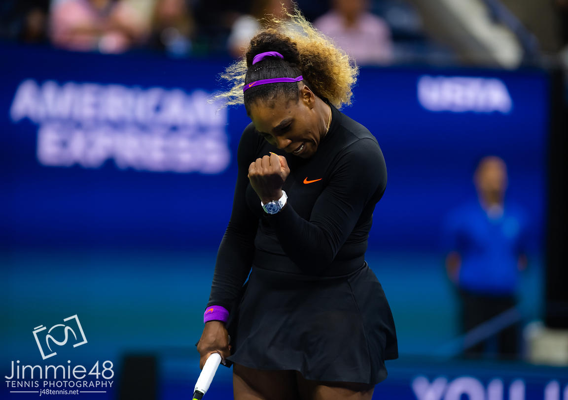 Serena Williams of the United States in action during her third-round match at the 2019 US Open Grand Slam tennis tournament