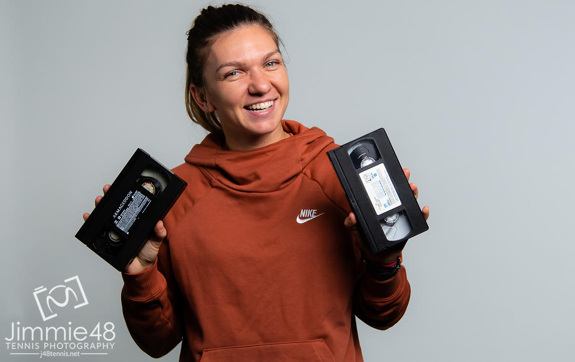 Simona Halep of Romania during a video shoot at the 2019 Western & Southern Open WTA Premier Tennis 5 Tournament