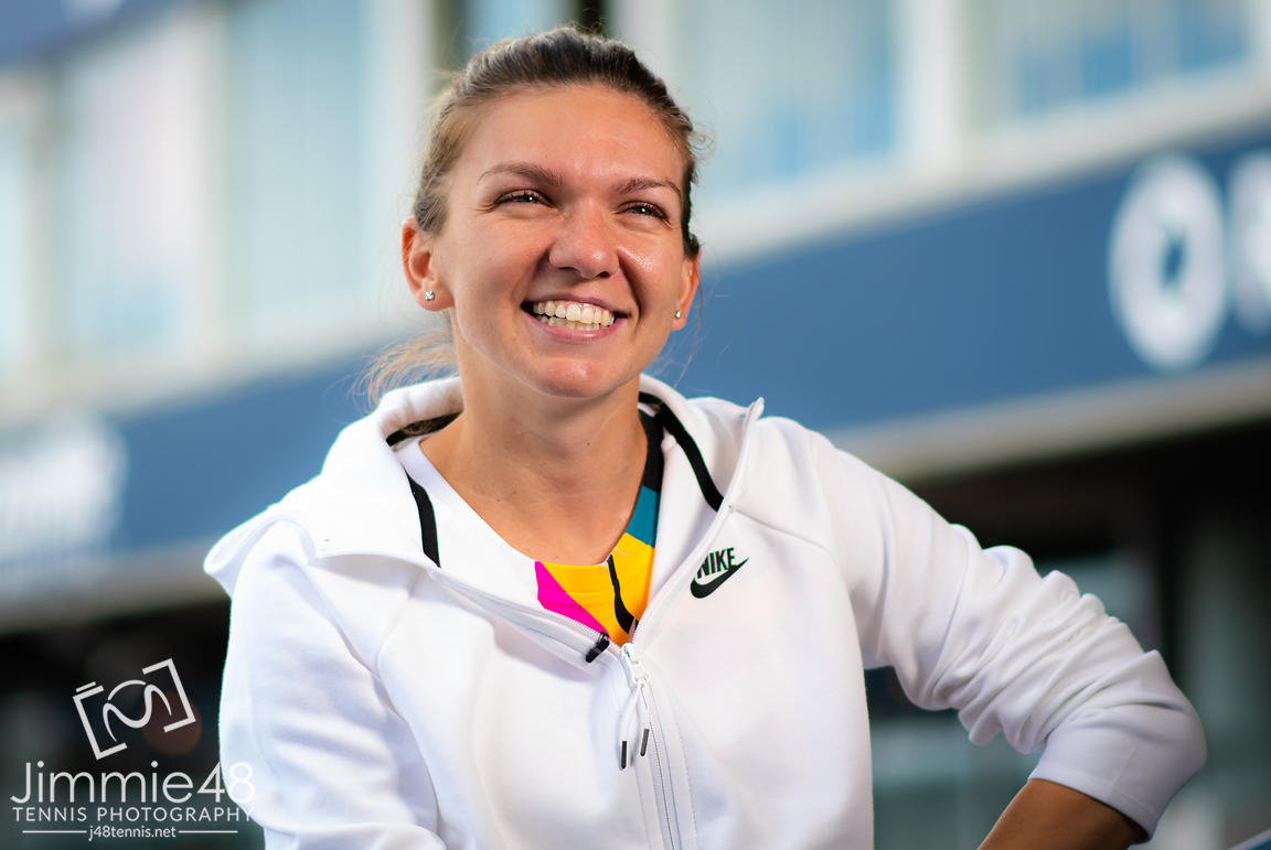 Simona Halep of Romania during the All Access Hour at the 2019 Rogers Cup WTA Premier Tennis 5 Tournament
