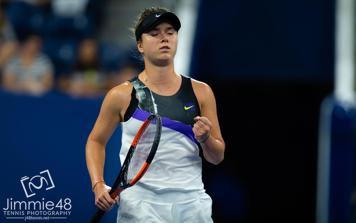 Elina Svitolina of the Ukraine in action during her third-round match at the 2019 US Open Grand Slam tennis tournament