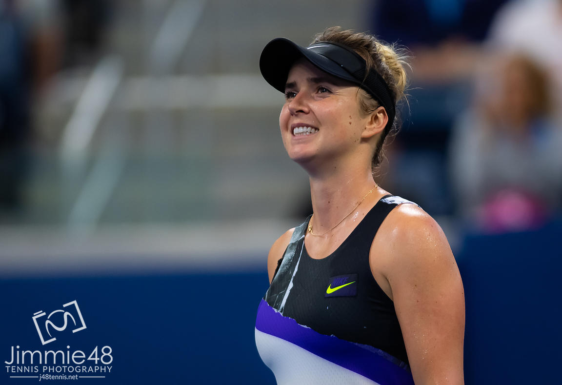 Elina Svitolina of the Ukraine in action during her second-round match at the 2019 US Open Grand Slam tennis tournament
