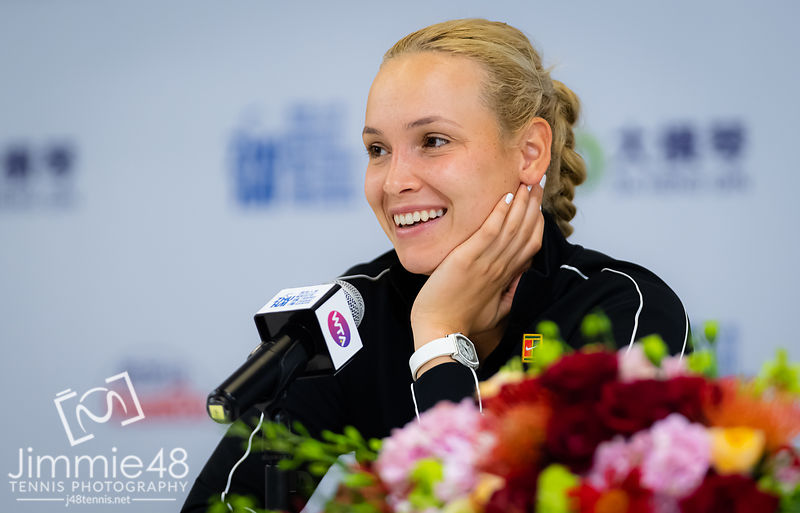 Donna Vekic of Croatia during All Access Hour at the 2019 WTA Elite Trophy tennis tournament