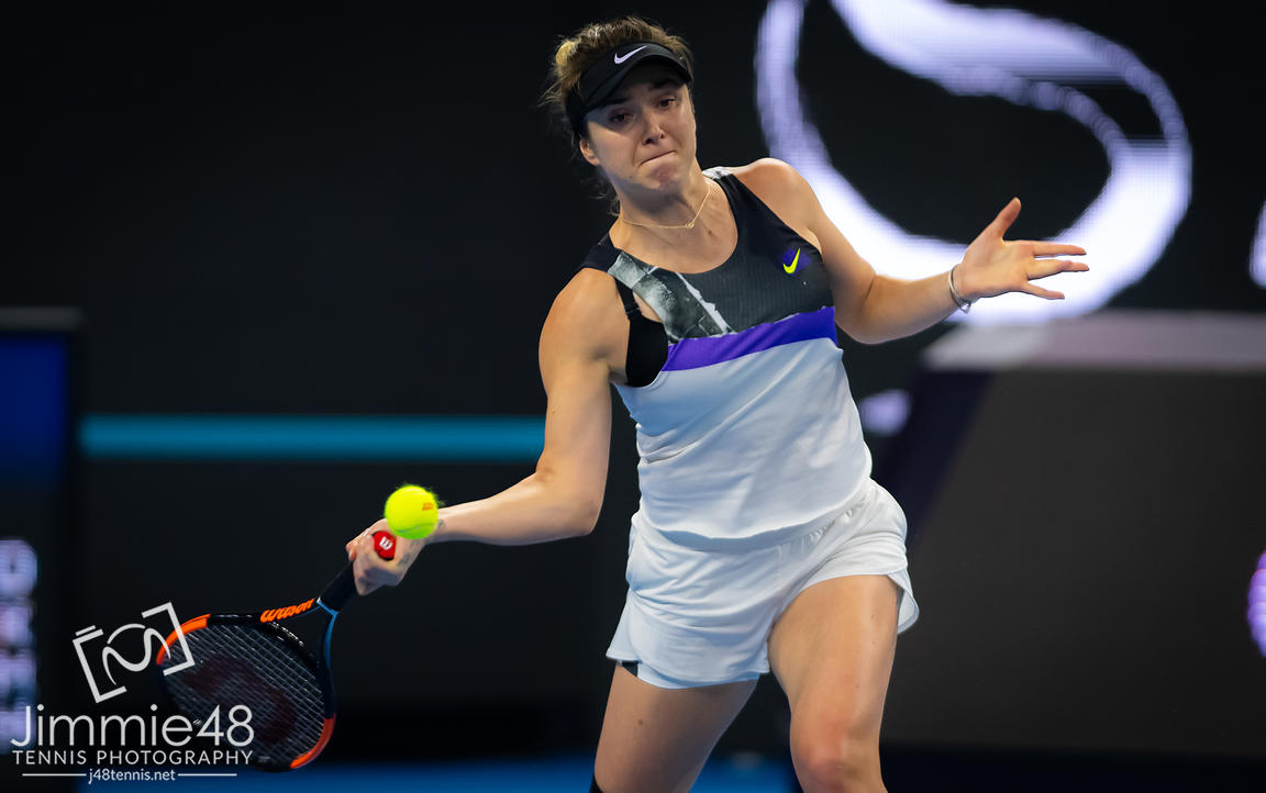 Elina Svitolina of the Ukraine in action during her third-round match at the 2019 China Open Premier Mandatory tennis tournament