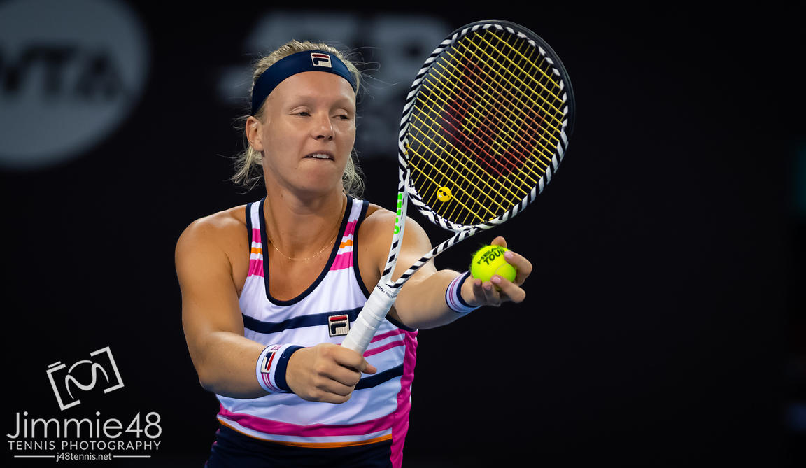 Kiki Bertens of the Netherlands in action during her third-round match at the 2019 China Open Premier Mandatory tennis tournament