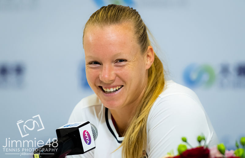 Kiki Bertens of the Netherlands during All Access Hour at the 2019 WTA Elite Trophy tennis tournament