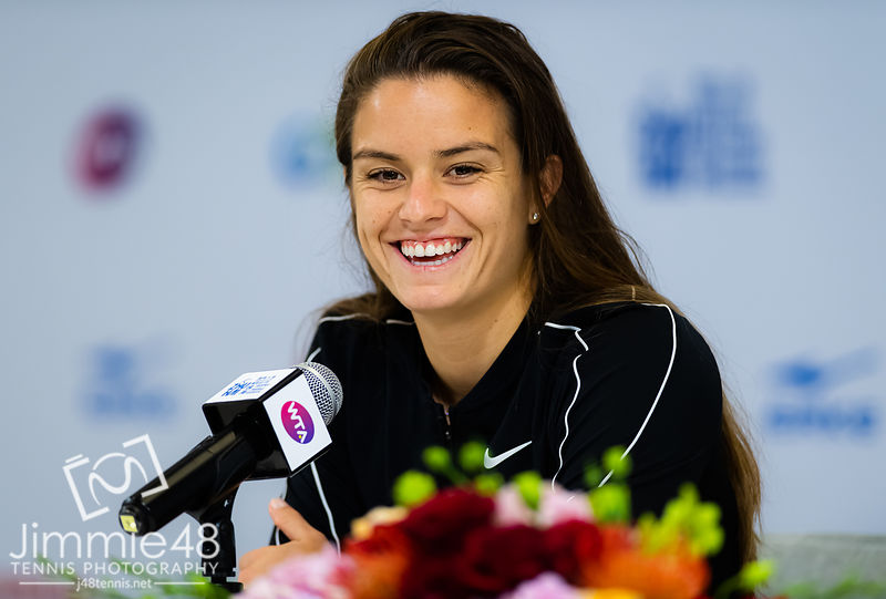 Maria Sakkari of Greece during All Access Hour at the 2019 WTA Elite Trophy tennis tournament
