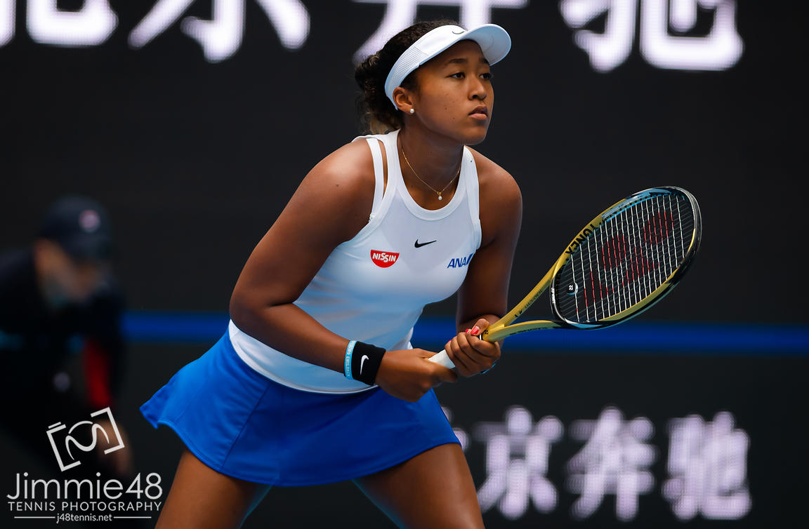 Naomi Osaka of Japan in action during her third-round match at the 2019 China Open Premier Mandatory tennis tournament