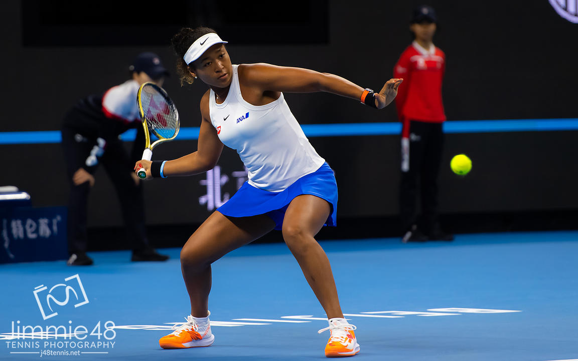 Naomi Osaka of Japan in action during her quarter-final match at the 2019 China Open Premier Mandatory tennis tournament