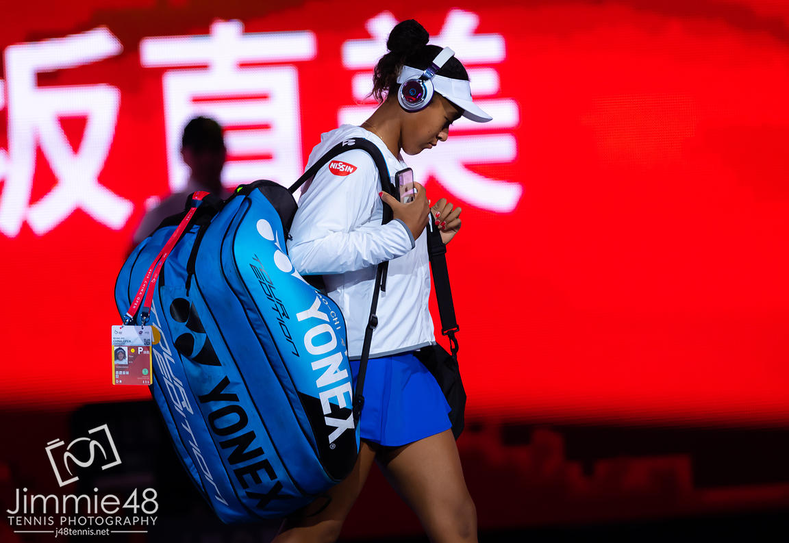 Naomi Osaka of Japan before her quarter-final match at the 2019 China Open Premier Mandatory tennis tournament