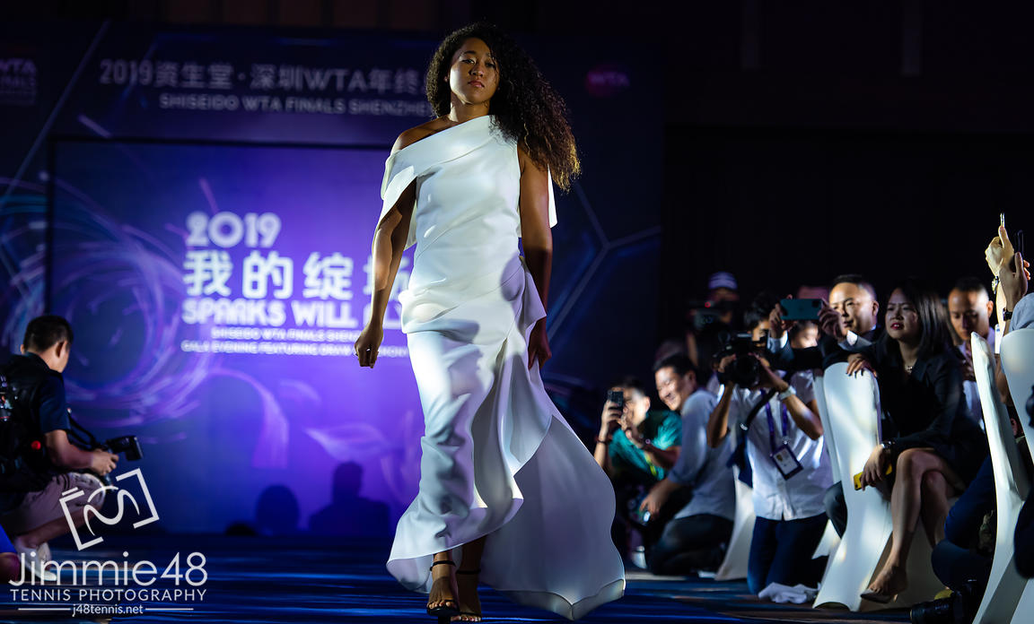 Naomi Osaka of Japan during the draw gala of the 2019 WTA Finals tennis tournament