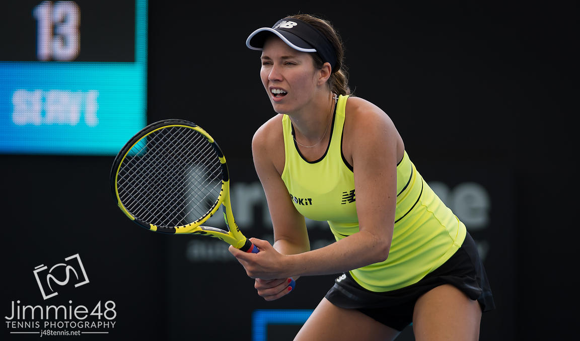 Danielle Collins of the United States in action during the second round of the 2020 Brisbane International WTA Premier tennis tournament
