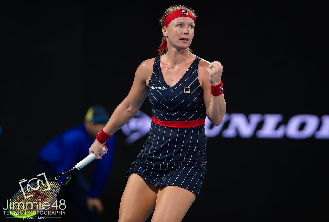 Kiki Bertens of the Netherlands in action during the second round of the 2020 Brisbane International WTA Premier tennis tournament