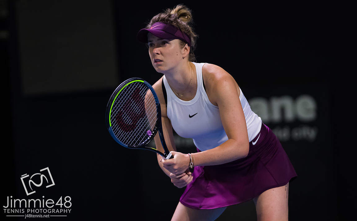 Elina Svitolina of the Ukraine in action during the first round at the 2020 Brisbane International WTA Premier tennis tournament