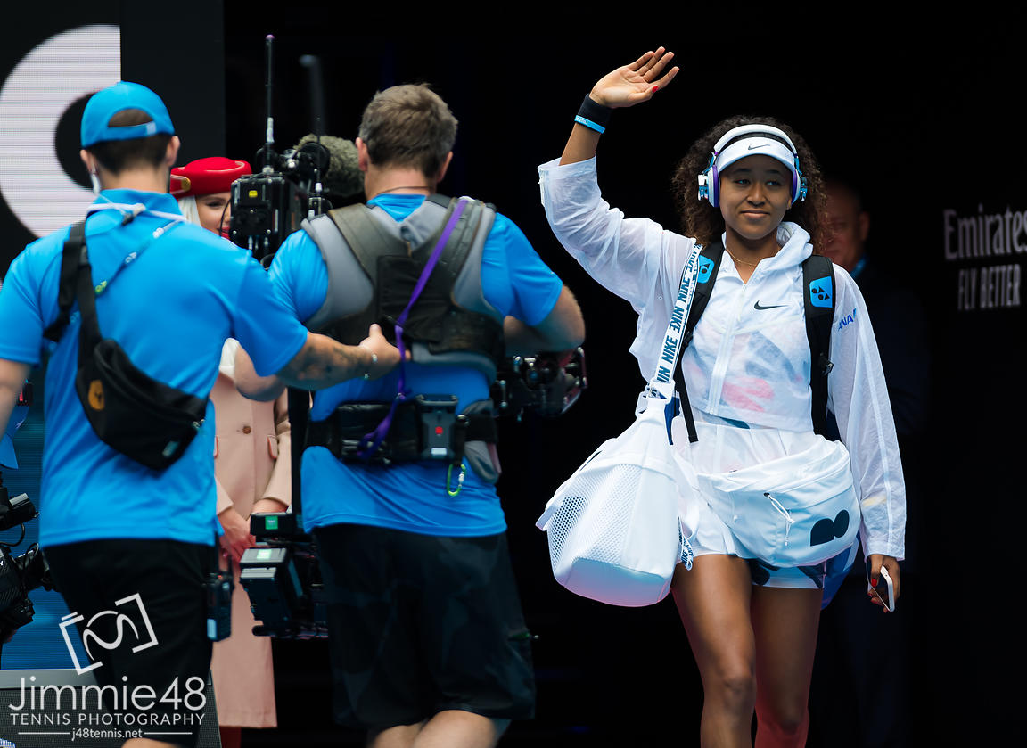 Naomi Osaka of Japan before her first round match of the 2020 Australian Open Grand Slam tennis tournament